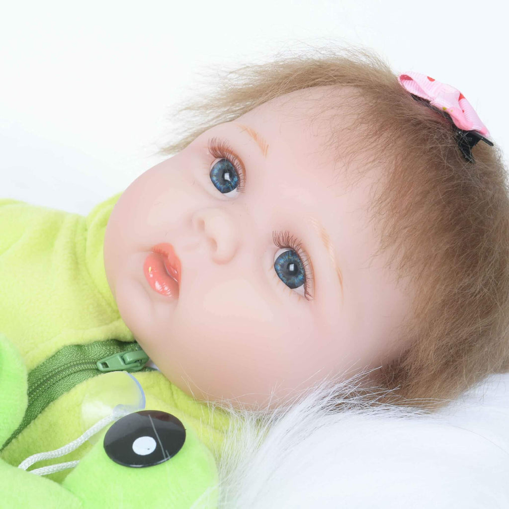 "22"" Chubby-faced Realistic Baby Girl"
