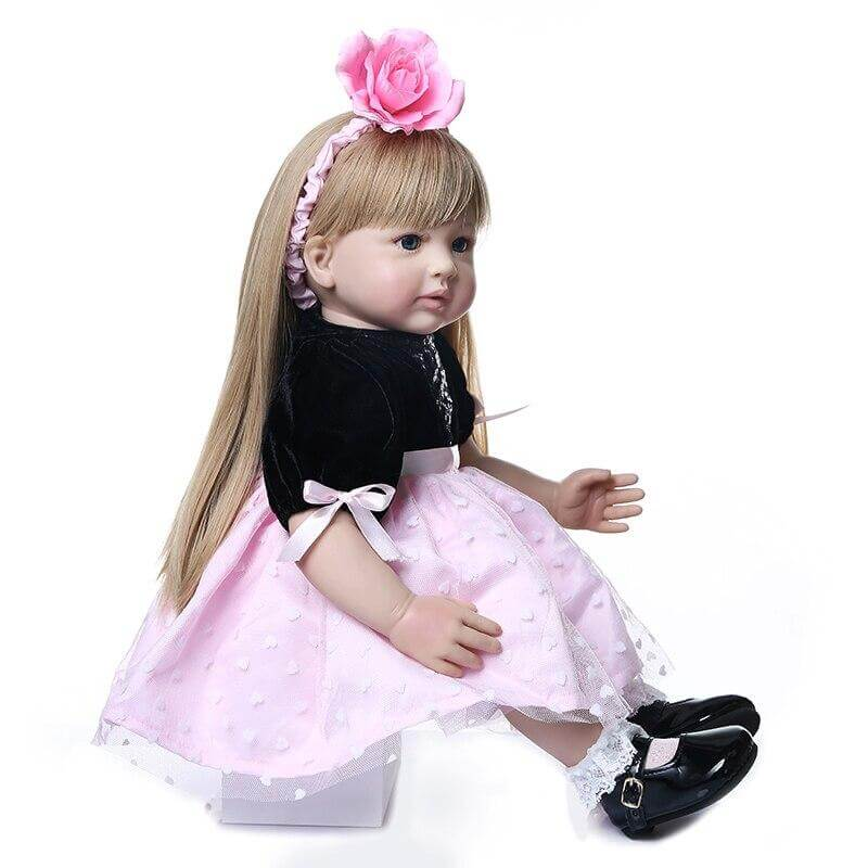 24'' high quality  princess toddler doll reborn baby girl doll