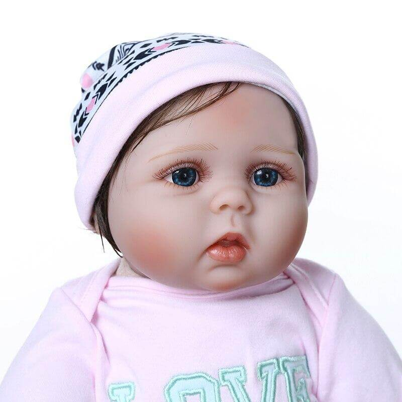 22'' cuddly adorable sweet face reborn baby girl in pink dress
