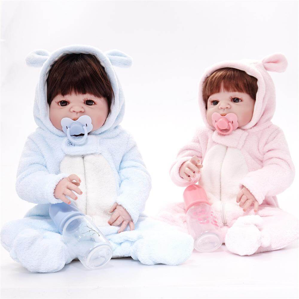 24''Amiable Toddler Sweetheart Realistic Twin Babies