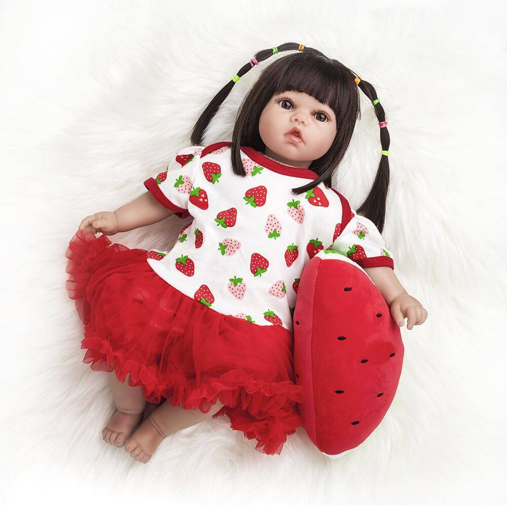 20''Red babygirl Reborn Babies Toys Bath Playmate Gift