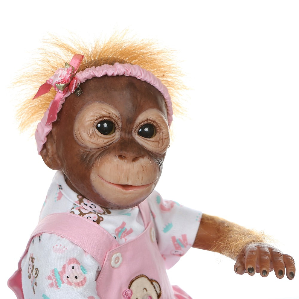 20'' handmade detailed paint  reborn baby Monkey  newborn baby collectible art high quality