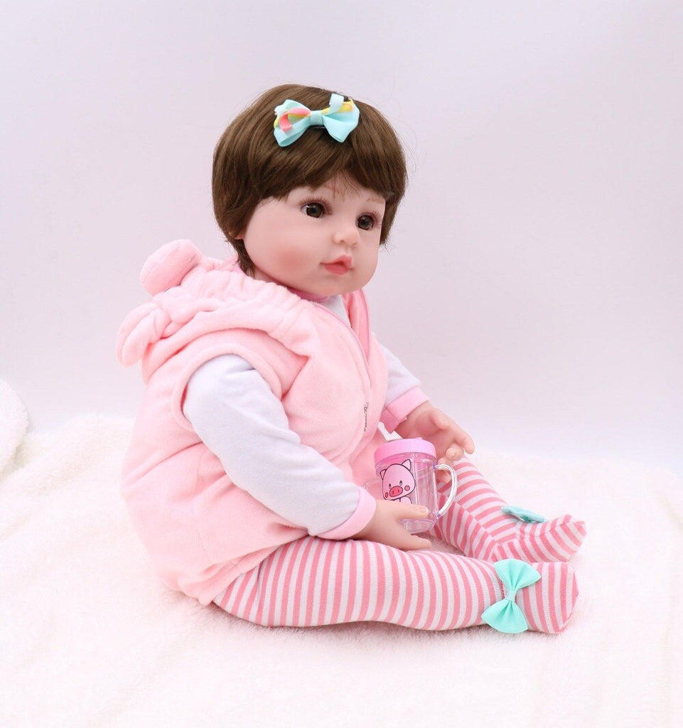 20'' premie baby size  full body silicone doll toy Christmas Gfit