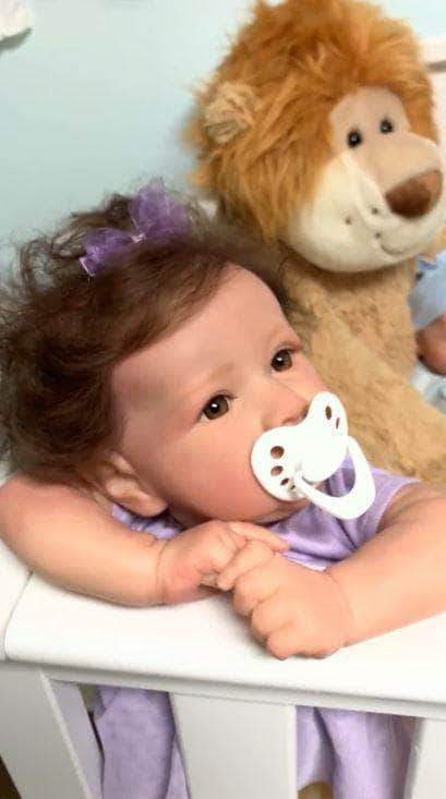 So Real Doll 22'' cloth body reborn baby doll girl 22'' Little Sylvie Reborn Baby Doll Girl