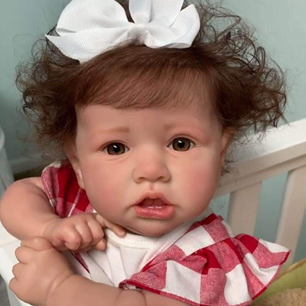 So Real Doll 22'' cloth body reborn baby doll girl Erice(girl with bowl) / Cloth Body Baby Doll 22'' Twins Sister Little Erica and Adele Reborn Baby Doll