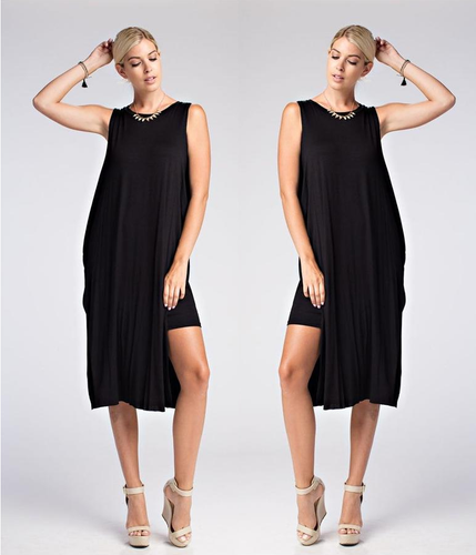 Black Sleeveless  Bandeau Maxi Dress