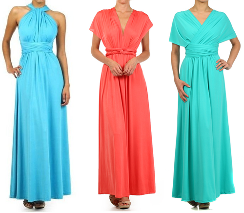Convertible Maxi Dress Infinity Wrap Bridesmaid