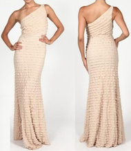 Beautiful Textured Ruffle Evening Gown