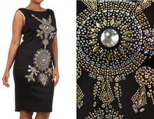 Sexy Plus Size Gala Dress Studded Rhinestones