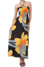 NEW WOMEN HALTER MAXI DRESS Smocked Floral Print Long Beaded Summer Sexy S M L