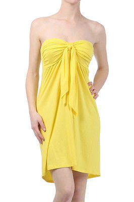 STRAPLESS BRA CUPPED Jersey Dress