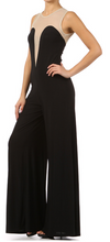 Sexy Sheer Mesh Wide Leg Jumpsuit