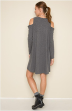 Sexy Cold Shoulder Shift Dress