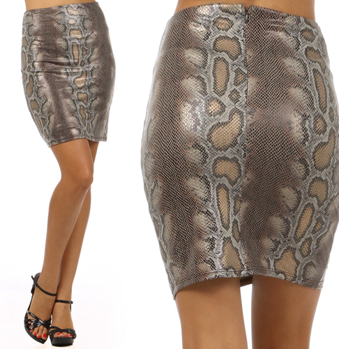 Beautiful Faux Snakeskin Mini Skirt
