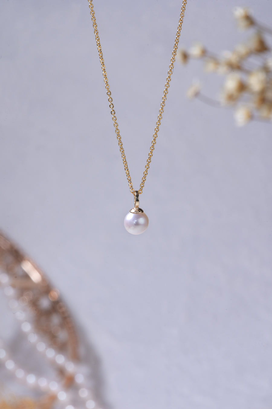 Little Bubble Pearl Pendant Necklace