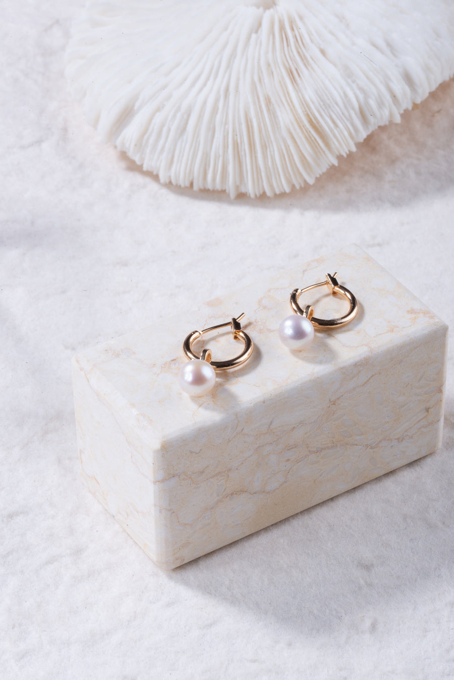 MIX&MATCH Pearl Hoop Earrings