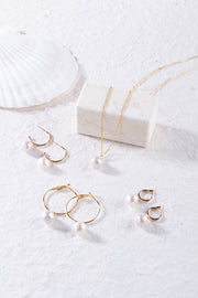 MIX&MATCH Round Baroque Hoop Earrings