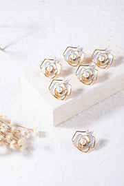 Camellia Pearl Brooch