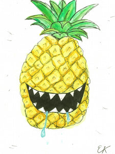 Monster Pineapple - Art Print