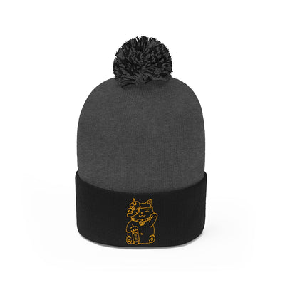 """Maneki-neko"" Pom Pom Beanie - Seasup Clothing"
