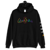 """Cultures Collide"" Unisex Hoodie - Black/Blue/Pink - Seasup Clothing"
