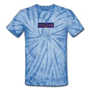 "Open image in slideshow, ""Visionary"" Unisex Tie Dye Tee - Blue/Black - SeaSup (Seattle Supreme Clothing)"