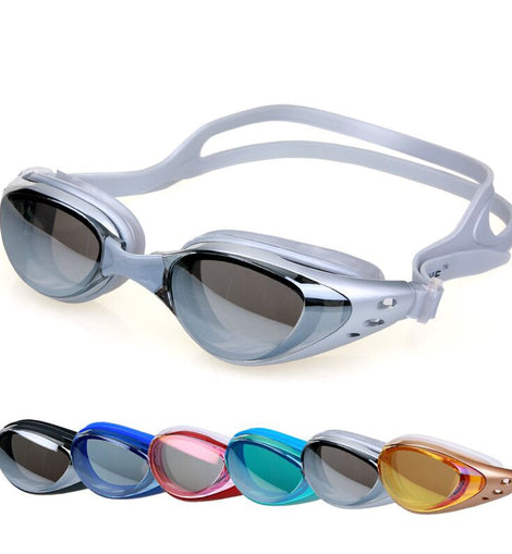 Waterproof Silicone Glasses Anti-Fog UV Adjustable Plating Professional Swimming Goggles  MenBathingSuit.com