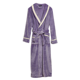 Thick Flannel Robe Women And Men Bathrobe Lengthen Coral Fleece Robe