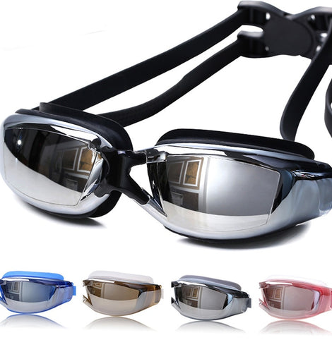 Professional Anti-Fog HD Sight Swimming Glasses  UV Training Adult Swimming Goggles MenBathingSuit.com