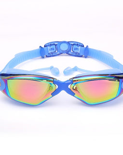 Silicone Swimming Goggles Colored Anti-fog Anti-uv Waterproof Adult Arena Swimming Glasses