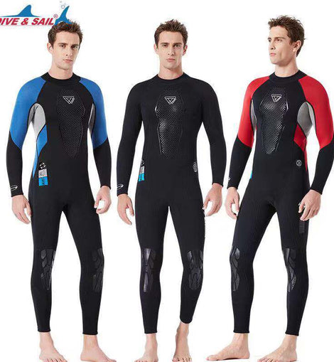 Anti-scratch Swimsuit 3mm Fullbody Neoprene Men Wetsuit Snorkeling  menbathingsit.com