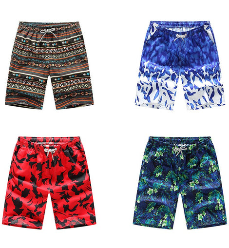 Men Drawstring Loose Quick Drying  Print Short  Mens Loose Swim Shorts MenbathingSuit.com
