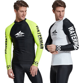 Long Sleeve Swim Rash Guards T-Shirts For Men Sailing Surfing Swimming MenBathingSuit.com