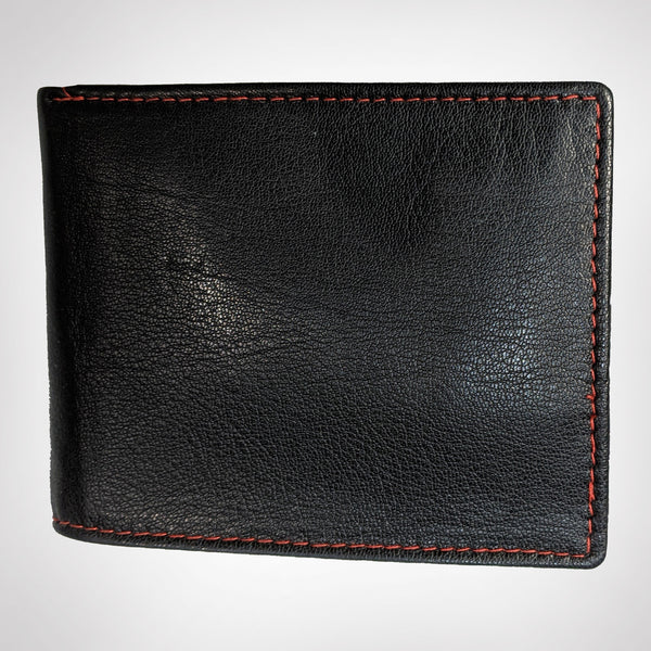 Black and Cherry Trifold Wallet - [Ecoloom]