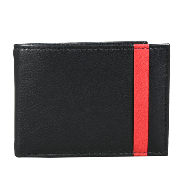 Black Cherry Lined Trifold Wallet (Bulk Only) - EcoLoom