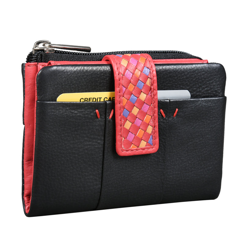 Boho Black Purse & Card Holder with back zip (Bulk Only) - [Ecoloom]