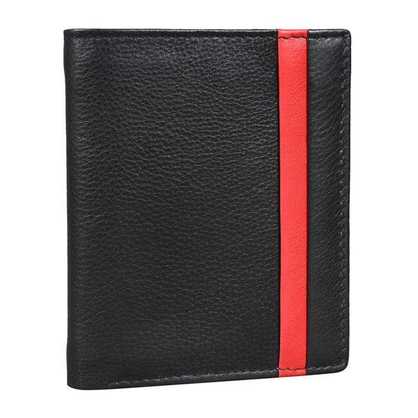 Cherry Lined Trifold Wallet, Black (Bulk Only) - EcoLoom