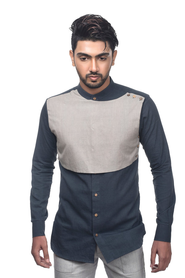 Contrast Sober Full Shirt - [Ecoloom]