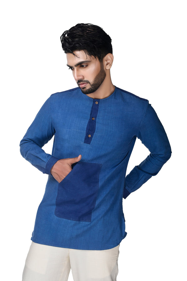 Cool Blue Men's Shirt - [Ecoloom]