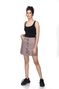 Down To Earth Mini Skirt - EcoLoom