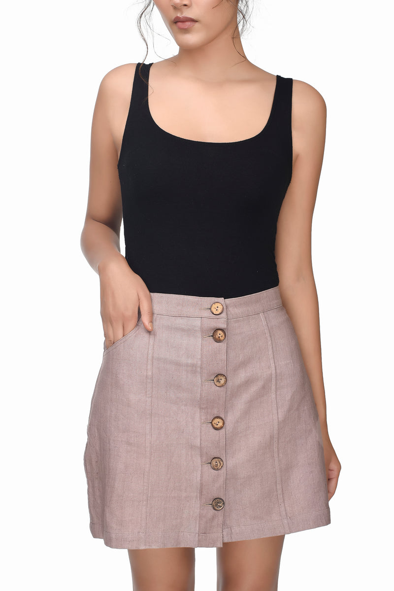 Down To Earth Mini Skirt - [Ecoloom]