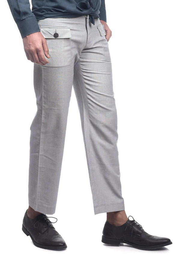 Grey Slim Fit Trouser - EcoLoom