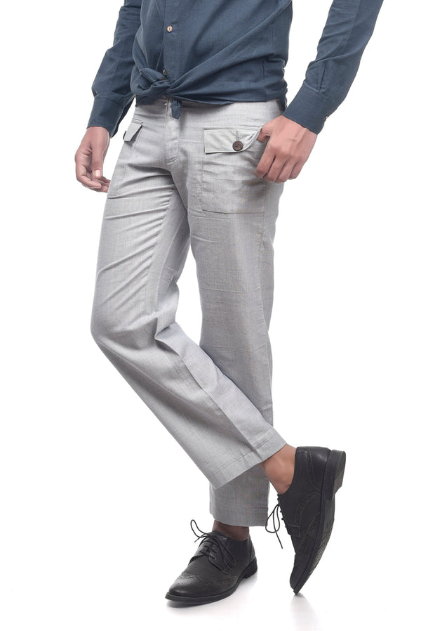 Grey Slim Fit Trouser - [Ecoloom]