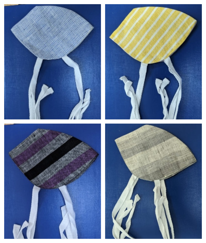 Linen Face Mask - Pack of 5(Assorted) - [Ecoloom]