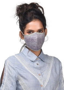 Face Mask ,Handwoven Cotton- Pack of 5 (Assorted) - [Ecoloom]
