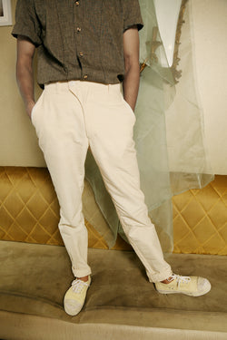 Overlay Off-White Trousers - [Ecoloom]