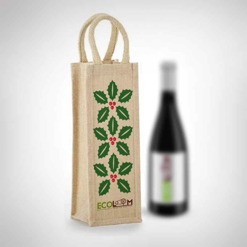 Jute Sleek Bottle Holder Bag - [Ecoloom]