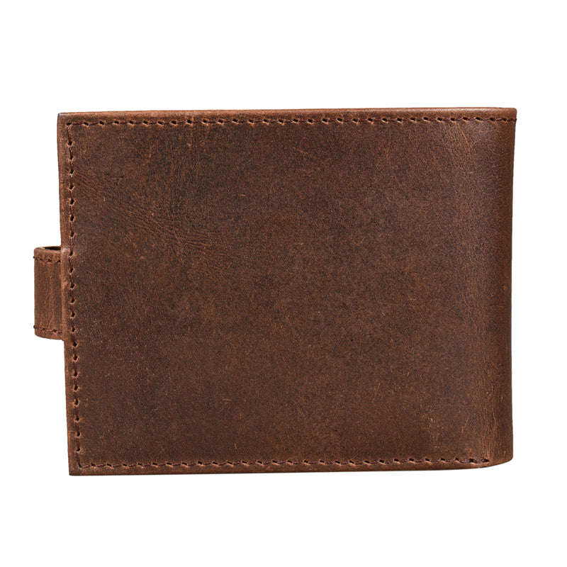 Russet Trifold Wallet with Flap (Bulk Only) - [Ecoloom]