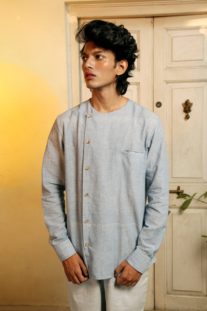 Sky Cotton Shirt - [Ecoloom]