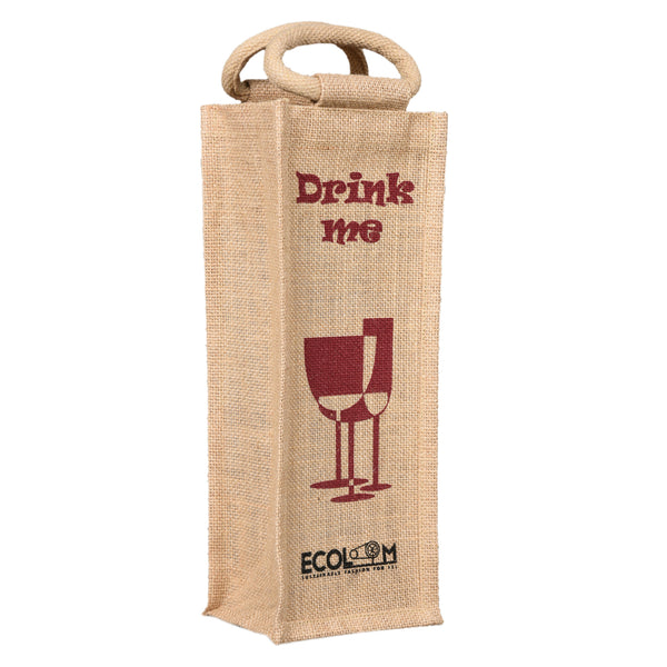 Sleek Jute Bottle holder Bag (Bulk Only) - EcoLoom